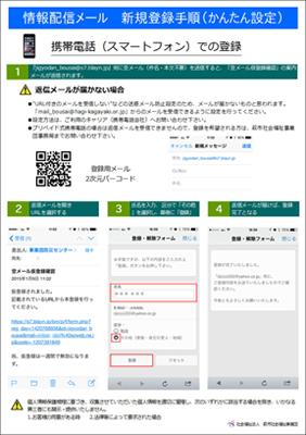 情報配信メール 新規登録手順(かんたん設定)スマホ用